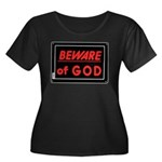 Atheist humor Women's Plus Size Scoop Neck Dark T-