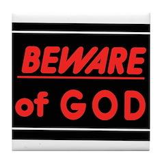 Atheist humor Tile Coaster