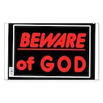 Atheist humor Sticker (Rectangle 50 pk)