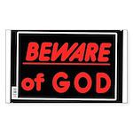 Atheist humor Sticker (Rectangle 10 pk)