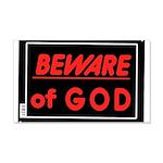 Atheist humor 22x14 Wall Peel