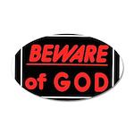 Atheist humor 22x14 Oval Wall Peel