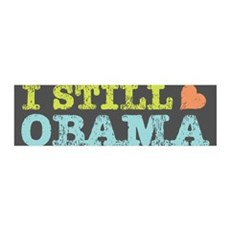 Still Heart Obama 42x14 Wall Peel