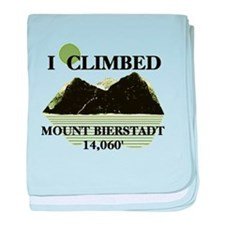 I Climbed Mount Bierstadt baby blanket