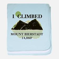 I Climbed Mount Bierstadt baby blanket