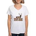 THE BUCK Women's V-Neck T-Shirt