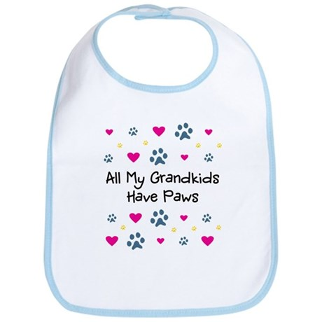 All My Grandkids Have Paws Bib