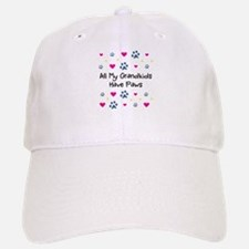 All My Grandkids Have Paws Baseball Baseball Cap