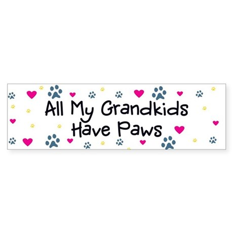 All My Grandkids Have Paws Sticker (Bumper)