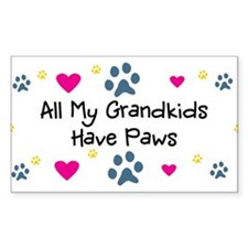 All My Grandkids Have Paws Decal