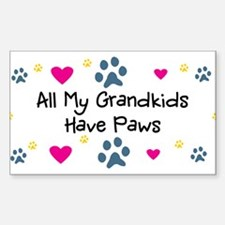 All My Grandkids Have Paws Sticker (Rectangle)