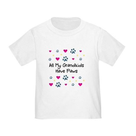 All My Grandkids Have Paws Toddler T-Shirt
