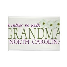 Grandma in North Carolina Rectangle Magnet