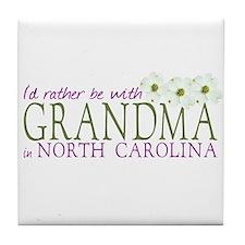 Grandma in North Carolina Tile Coaster