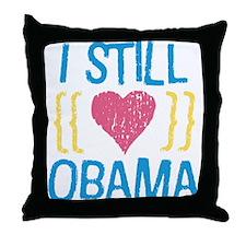 Still Love Obama Throw Pillow