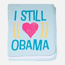 Still Love Obama baby blanket