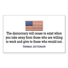 Quote Democracy Decal