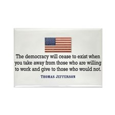 Quote Democracy Rectangle Magnet