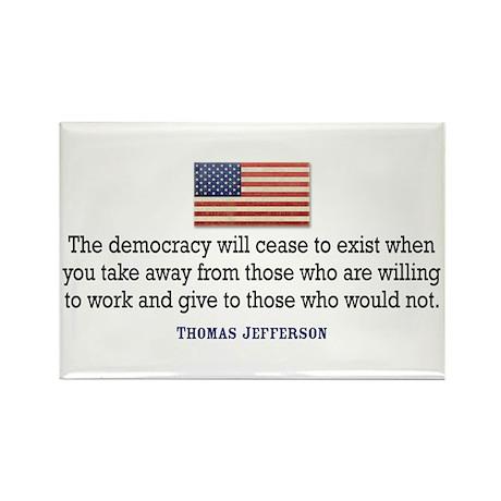 Quote Democracy Rectangle Magnet