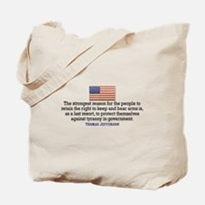 Jefferson 2nd Amendment Tote Bag