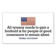 Jefferson Quote on Tyranny Decal