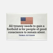 Jefferson Quote on Tyranny Rectangle Magnet