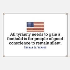 Jefferson Quote on Tyranny Banner