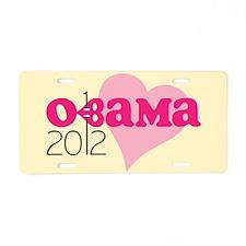 Pierced Pink Obama 2012 Aluminum License Plate