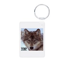 Wolf YNP, Wyoming Aluminum Photo Keychain