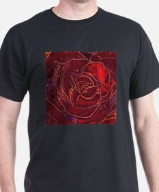 """Red Rose"" painting T-Shirt"