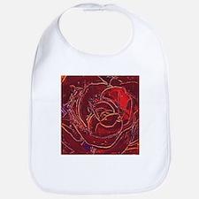 """""""Red Rose"""" painting Bib"""