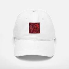 """Red Rose"" painting Baseball Baseball Cap"