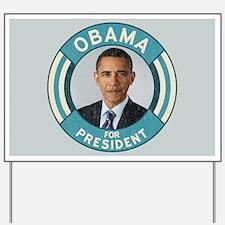Blue Obama for President Yard Sign