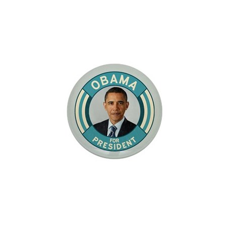 Blue Obama for President Mini Button (100 pack)