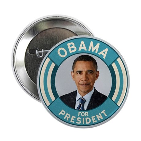 """Blue Obama for President 2.25"""" Button"""