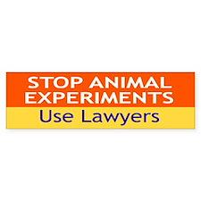 use lawyers... Bumper Bumper Sticker