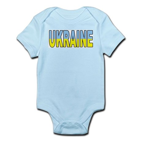 Ukraine World Cup Soccer Flag Infant Creeper
