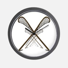 Traditional Lacrosse Sticks Wall Clock