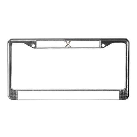 Traditional Lacrosse Sticks License Plate Frame