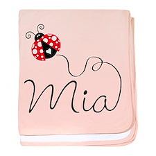 Ladybug Mia baby blanket