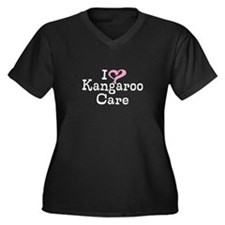 I Love Kangaroo Care Women's Plus Size V-Neck Dark