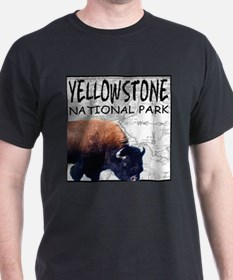 YNP Bison Map First Edition T-Shirt