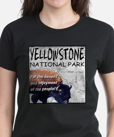 YNP Bison and Map Tee