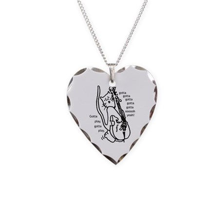 Gotta Play Necklace Heart Charm
