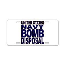 Navy Bomb Disposal Aluminum License Plate