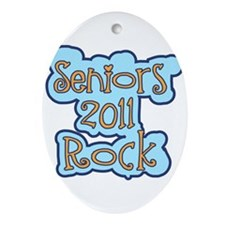 Seniors 2011 Rock Ornament (Oval)
