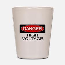 Danger! High Voltage Shot Glass