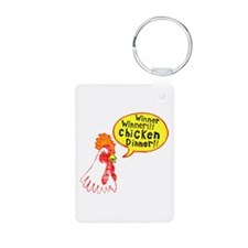 Winner Chicken Dinner Aluminum Photo Keychain
