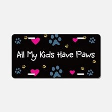 All My Kids/Children Have Paws License Plate