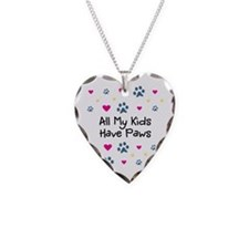 All My Kids/Children Have Paws Heart Necklace